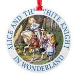 ALICE AND THE WHITE KNIGHT_BLUE copy Round Orn