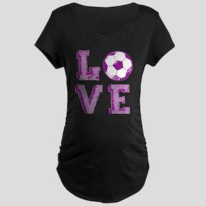 Girly Love Soccer Maternity T-Shirt