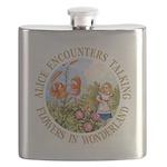 Alice Talking Flowers_GOLD copy Flask