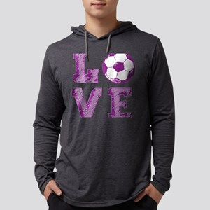 Girly Love Soccer Mens Hooded Shirt