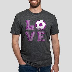 Girly Love Soccer Mens Tri-blend T-Shirt