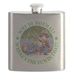 ALICE WHY BE NORMAL_green copy Flask