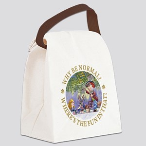 ALICE WHY BE NORMAL_gold copy Canvas Lunch Bag