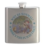 ALICE WHY BE NORMAL_blue copy Flask