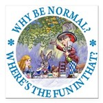 ALICE WHY BE NORMAL_blue copy Square Car Magne