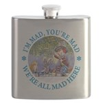 ALICE MAD HATTER WHY BE NORMAL_blue copy Flask