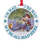 ALICE MAD HATTER WHY BE NORMAL_blue copy Round