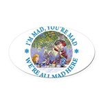 ALICE MAD HATTER WHY BE NORMAL_blue copy Oval