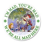 ALICE MAD HATTER WHY BE NORMAL_GREEN copy Roun