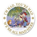 ALICE MAD HATTER WHY BE NORMAL_RED copy Round