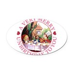 ALICE MAD HATTER unbirthday hrt pink copy Oval