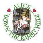 ALICE DOWN THE RABBIT HOLE_GREEN copy Round Ca