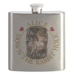 ALICE DOWN THE RABBIT HOLE_GOLD copy Flask