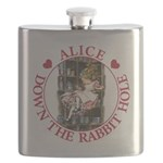 ALICE DOWN THE RABBIT HOLE_RED copy Flask