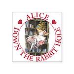 ALICE DOWN THE RABBIT HOLE_RED copy Square Sti