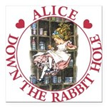 ALICE DOWN THE RABBIT HOLE_RED copy Square Car
