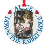 ALICE DOWN THE RABBIT HOLE_BLUE copy Round Orn
