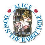 ALICE DOWN THE RABBIT HOLE_BLUE copy Round Car