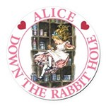 ALICE DOWN THE RABBIT HOLE_PINK copy Round Car