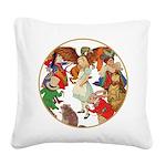 A round alice-white Square Canvas Pillow