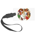 A round alice-white Large Luggage Tag