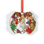 A round alice-white Picture Ornament
