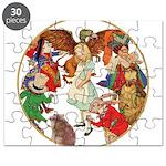A round alice-white Puzzle