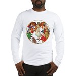 A round alice-white Long Sleeve T-Shirt