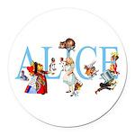 ALICE & FRIENDS Round Car Magnet