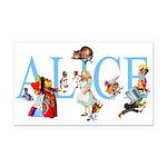 ALICE & FRIENDS Rectangle Car Magnet