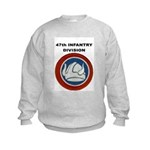 47TH INFANTRY DIVISION Kids Sweatshirt