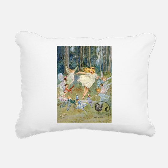 dancing in the fairy Rectangular Canvas Pillow