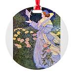 The Rose Fairies002x_10x14 Round Ornament