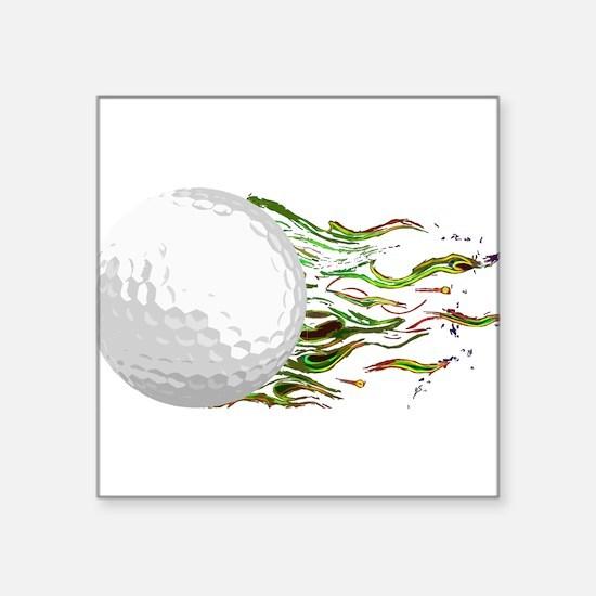 Flaming Golf Ball Club PGA Masters Sticker