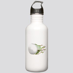 Flaming Golf Ball Club PGA Masters Water Bottle
