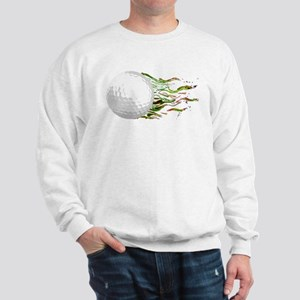 Flaming Golf Ball Club PGA Masters Sweatshirt