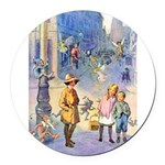 THE FAIRY TALE BOOK _ 10x14 Round Car Magnet