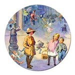 THE FAIRY TALE BOOK _ SQ Round Car Magnet