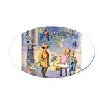 THE FAIRY TALE BOOK _ SQ Oval Car Magnet