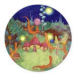 The Fairy Circus003_SQ Round Car Magnet