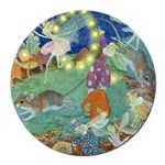 The Fairy Circus002_SQ Round Car Magnet