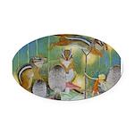 The Fairy Circus004_10x14 Oval Car Magnet