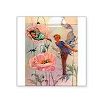 Little White Gate Fairy003 Square Sticker 3