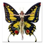 Leyendecker Butterfly_copy Square Car Magnet 3