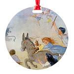 In Wheelabout Cockalone006 Round Ornament