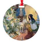 In Wheelabout Cockalone005_SQ Round Ornament