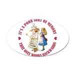 ALICE_POOR MEMORY_RED copy Oval Car Magnet
