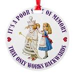 ALICE_POOR MEMORY_PURPLE copy Round Ornament