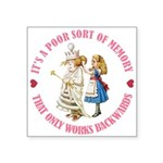 ALICE_POOR MEMORY_PINK copy Square Sticker 3