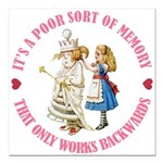 ALICE_POOR MEMORY_PINK copy Square Car Magnet